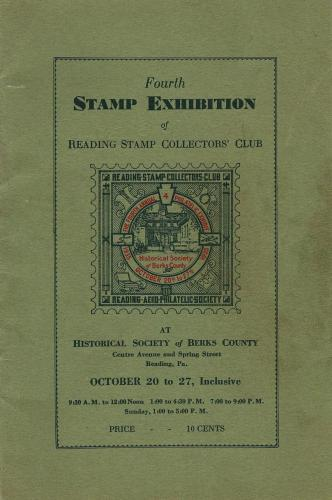Front Page of 1935 Reading Stamp Show 20 page booklet