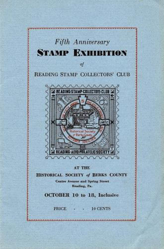 Front Page of 1936 Reading Stamp Show 8 page booklet